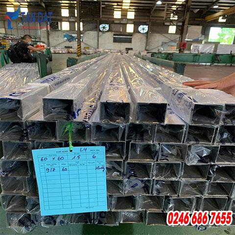 Hộp inox 304 - 60 x 60 mm